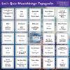Muziekbingo-Topografie
